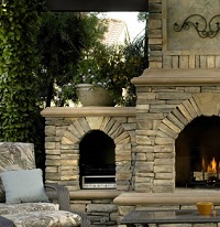 outdoor fireplace builder
